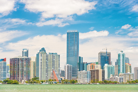 The Miami skyline on a beautiful summer day photo