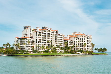 Residences at Fisher Island, an exclusive community in an artificial island off shore Miami, Florida