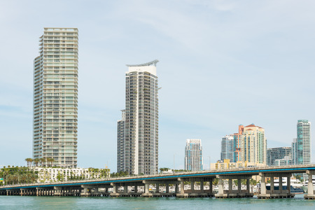 residencial: Modern residencial buildings on Miami Beach