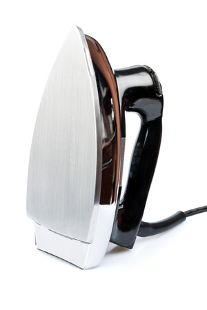 electric iron: Iron, small home  electrical appliance, isolated on a white