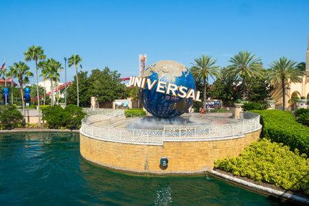 theme park: The famous Universal Globe at Universal Studios Florida theme park