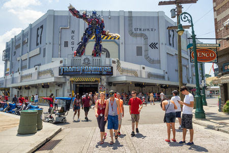 universal: The new  Transformers 3D ride at Universal Studios Florida theme park