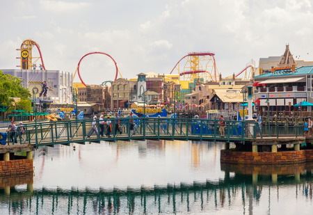 tourist resort: General view of the  Universal Studios Florida theme park