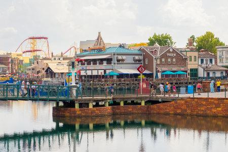 theme park: General view of the  Universal Studios Florida theme park