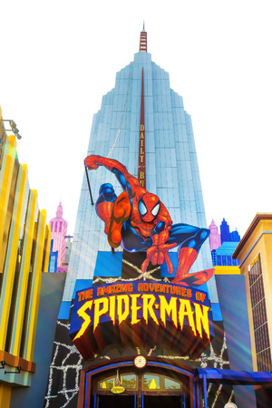 universal: The Spiderman ride at Universal Studios Islands of Adventure theme park