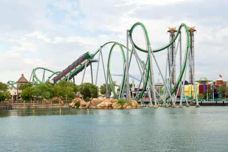 The Hulk Rollercoaster at  Universal Studios Islands of Adventure theme park
