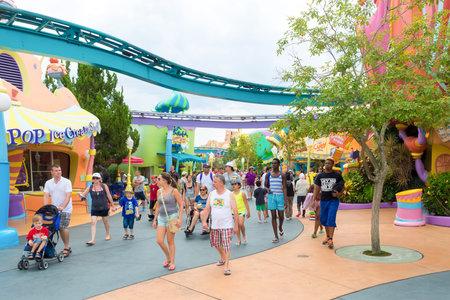 visitors area: Visitors at the Seuss Landing Area inside Universal Studios Islands of Adventure theme park