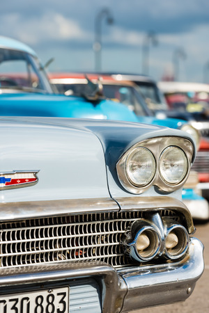 shiny car: Classic chevrolet and other vintage american cars in Havana