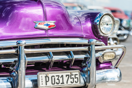 chevrolet: Classic chevrolet and other colorful vintage american cars in Havana
