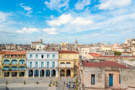 The city of Havana on a summer day with a beautiful blue sky