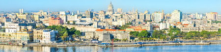Panoramic view of Old Havana including most of its famous landmarks