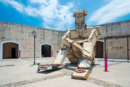 is well known: Art installation by Kcho a well known cuban artist at the Havana Biennale Stock Photo