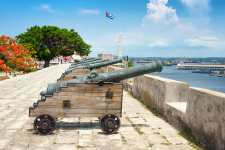 cabana: Old spanish cannons at La Cabana fortress in Havana