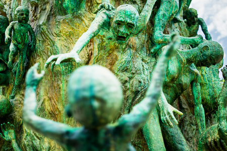 holocaust: Detail of the Holocaust Memorial on Miami Beach Editorial