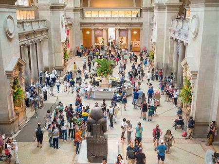 visitors: Visitors at the lobby of the Metropolitan Museum of Art in New York
