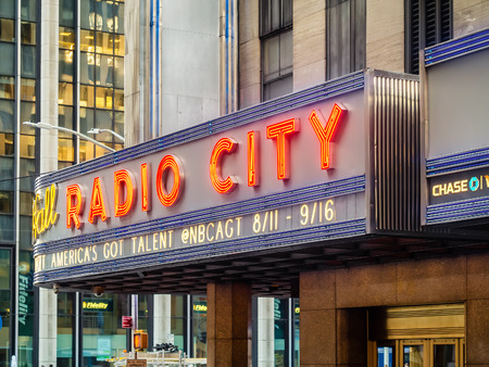 the americas: The Radio City Music Hall presenting the Americas got talent show in New York Editorial