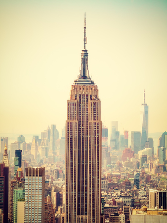 artdeco: The Empire State Building and the city of New York Stock Photo