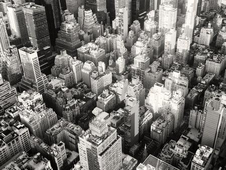뉴욕시의 흑백 도시 풍경