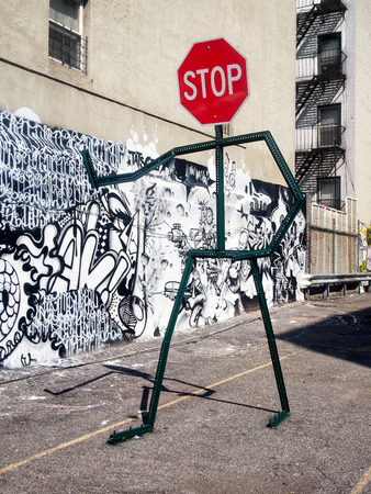 Street art at a parking lot in New York City Editorial
