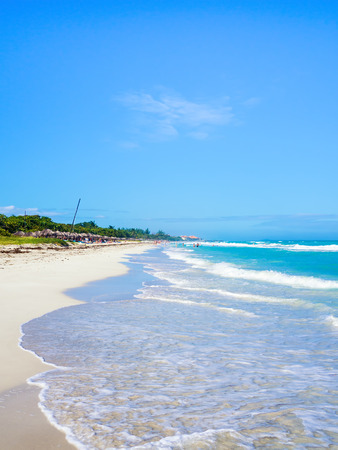 sandy beach: The beautiful beach of Varadero in Cuba on a summer day