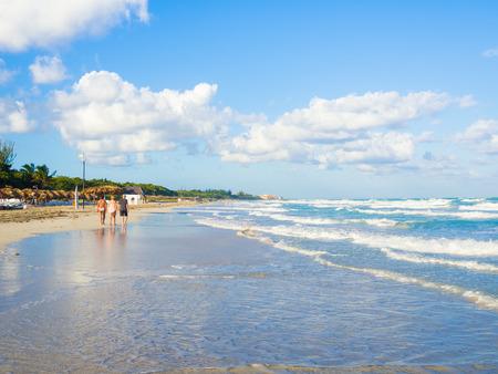 varadero: Varadero beach in Cuba on a beautiful summer day