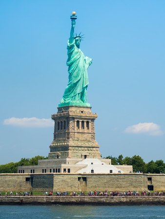 ny: The Statue of Liberty in New York on a beautiful summer day