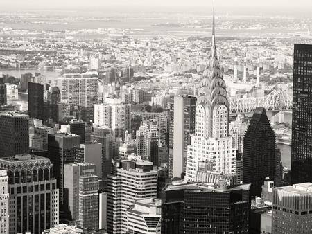 artdeco: Black and white view of midtown Manhattan in New York City