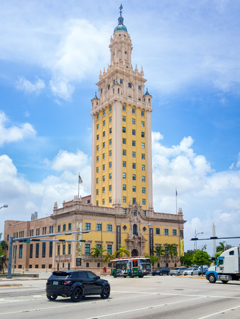 artdeco: The Freedom Tower at downtown Miami Editorial