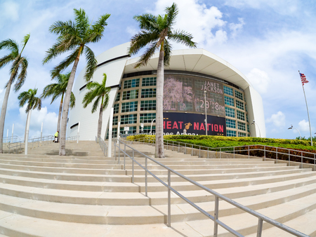 venue: The American Airlines Arena, home to the Miami Heat and a famous concert venue Editorial