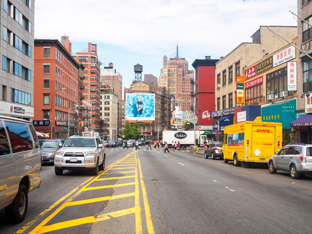 chinese american ethnicity: View of Canal Street at Chinatown in New York City Editorial
