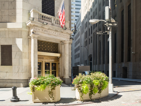 nyse: Entrance to the New York Stock Exchange in Manhattan Financial District Editorial