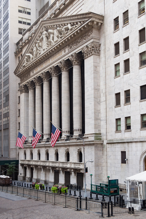new york stock exchange: The New York Stock Exchange in Manhattan Financial District