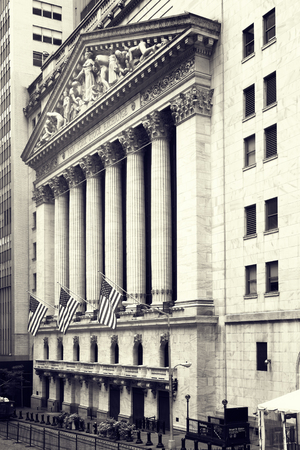 the white wall: The New York Stock Exchange on Wall Street in New York City