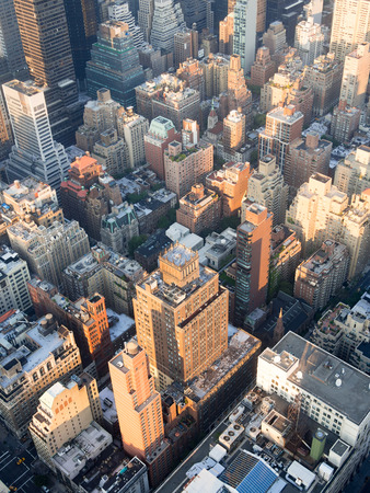 city view: The urban landscape of midtown Manhattan in New York City Stock Photo