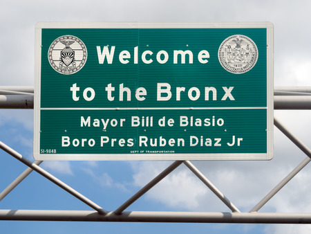 Welcome to the Bronx street sign in New York City