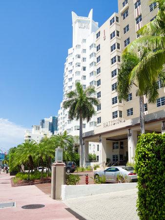 delano: Famous Art Deco Hotels at Miami Beach Editorial