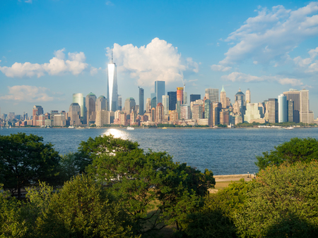 wtc: The skyline of downtown Manhattan seen from Ellis Island