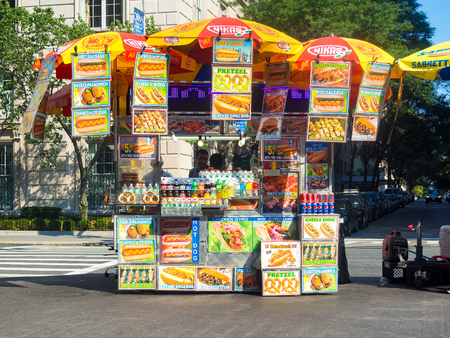 Fast food cart in New York City