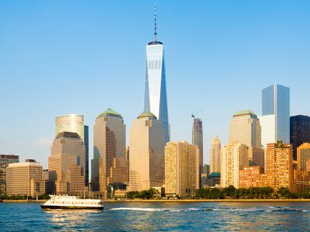 lower manhattan: The skyline of Lower Manhattan in New York City