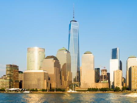 ny: The skyline of Lower Manhattan in New York City