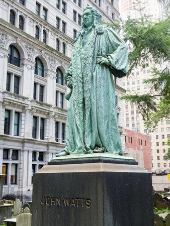 watts: John Watts monument at the Trinity Church graveyard in Manhattan