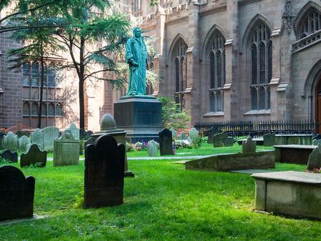 trinity: The Trinity Church graveyard in Lower Manhattan