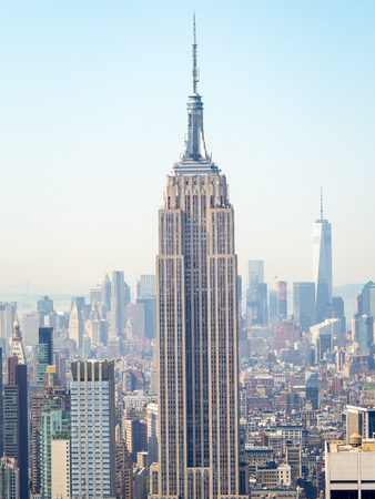 The Empire State Building and the Manhattan skyline in New York City