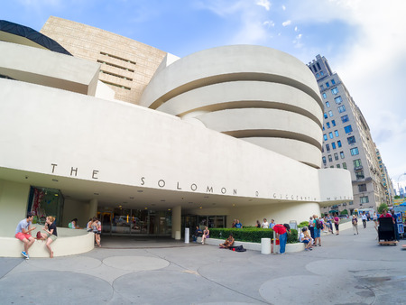 The Solomon R. Guggenheim museum in New York City Редакционное
