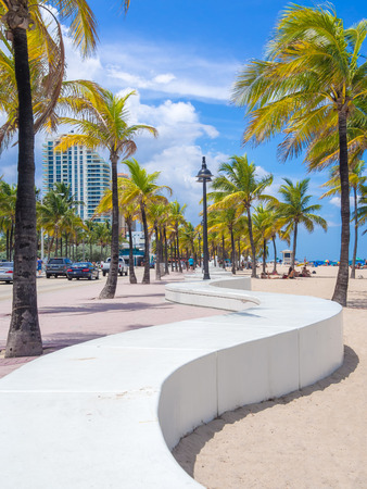 pals: The beach at Fort Lauderdale in Florida on a beautiful sumer day