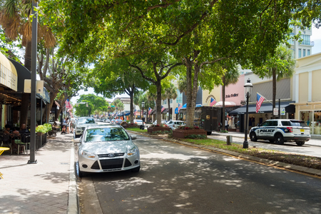 fort lauderdale: Las Olas Boulevard at Fort Lauderdale in Florida on a summer day Editorial
