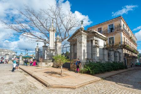 colonial building: The colonial building of El Templete in Old Havana Editorial