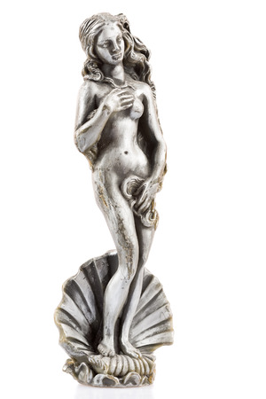 artistic nude: Wax figure of a nude Aphrodite isolated on a white background