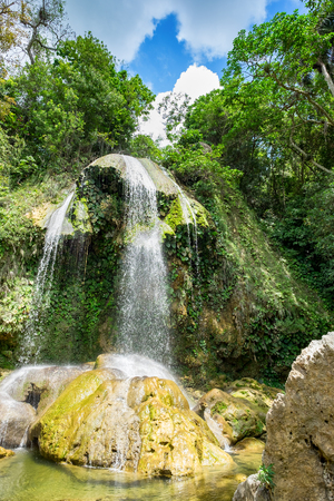 soroa: Waterfall at Soroa, a famous natural landmark in Cuba Stock Photo