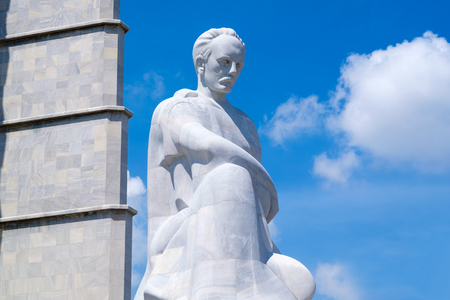 national poet: The Jose Marti memorial monument at the Revolution Square in Havana